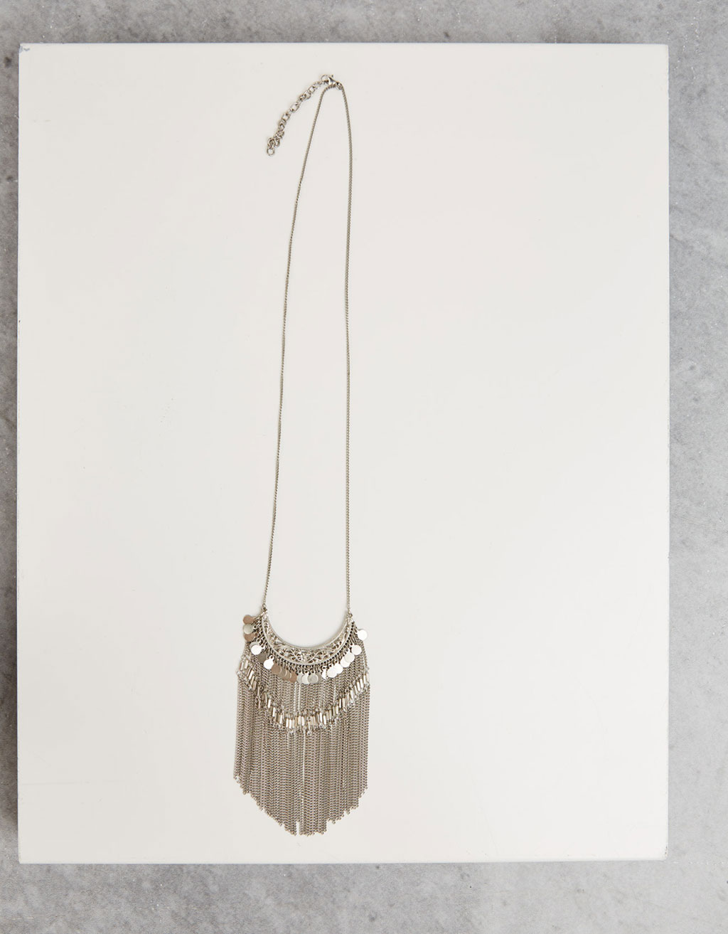 Long fringe bohemian necklace