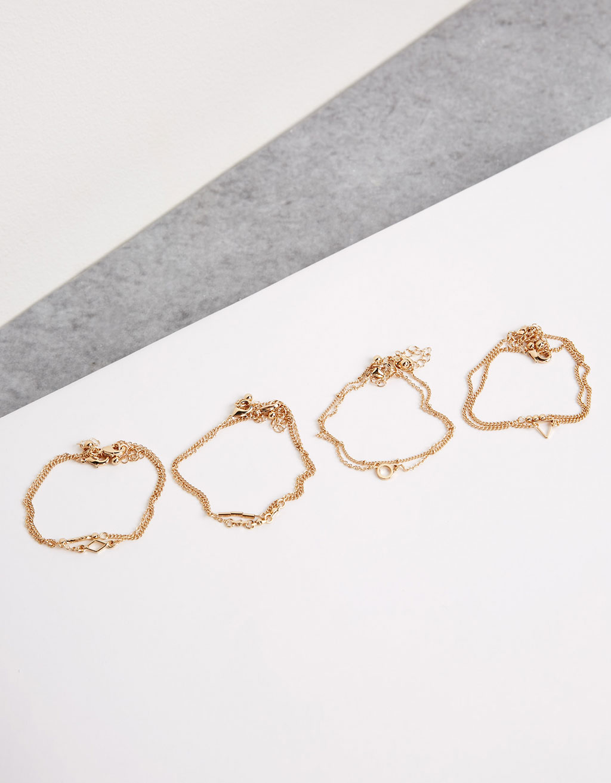 Set 8 pulseras cadena