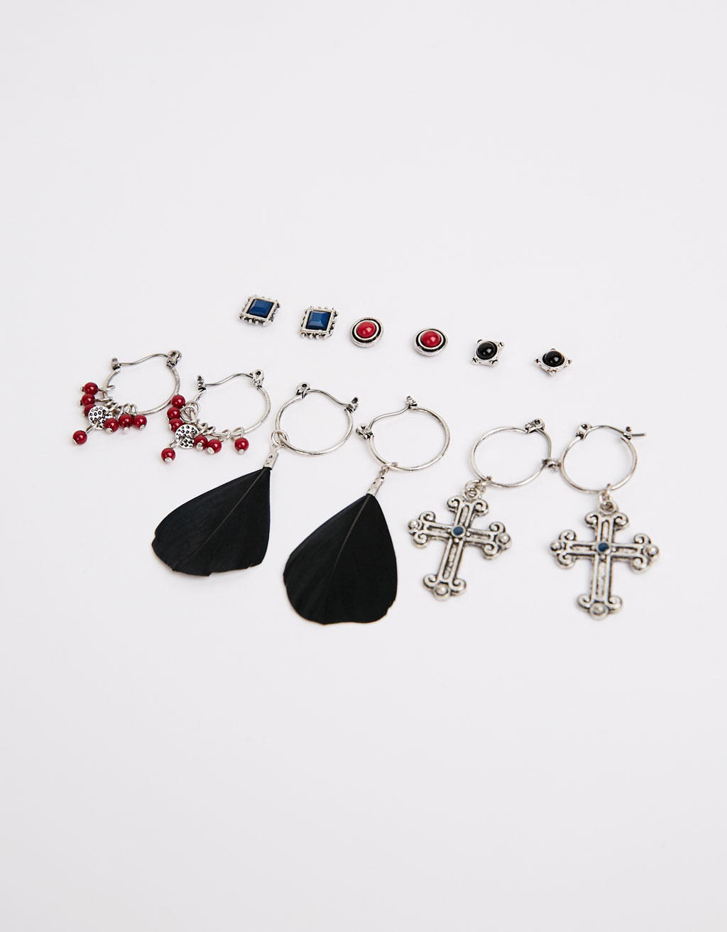 Combinable earrings (set of 6)