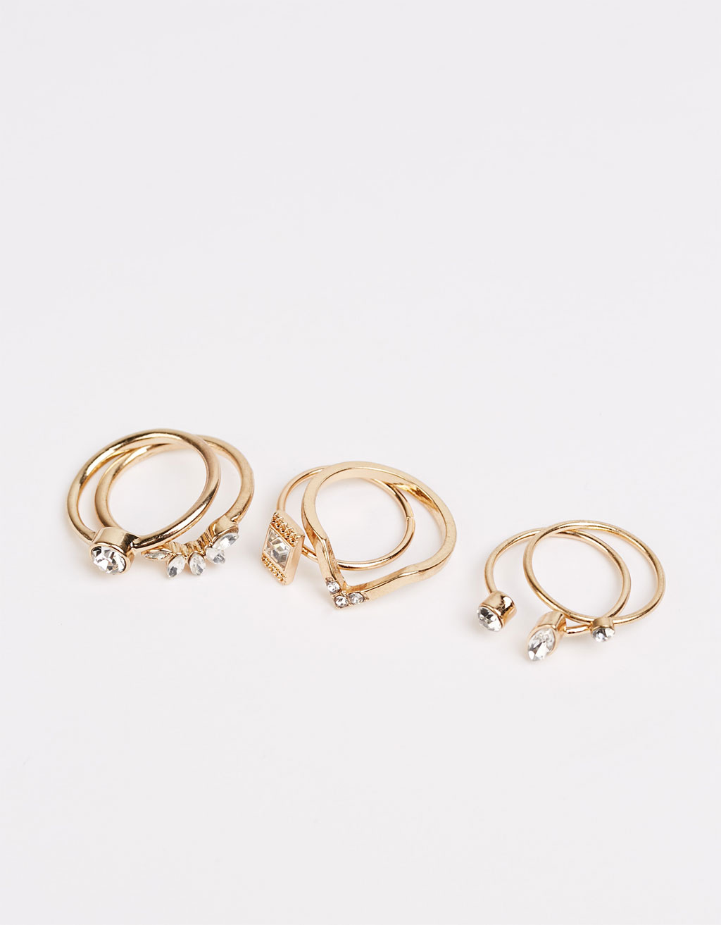 Stone rings (set of 6)