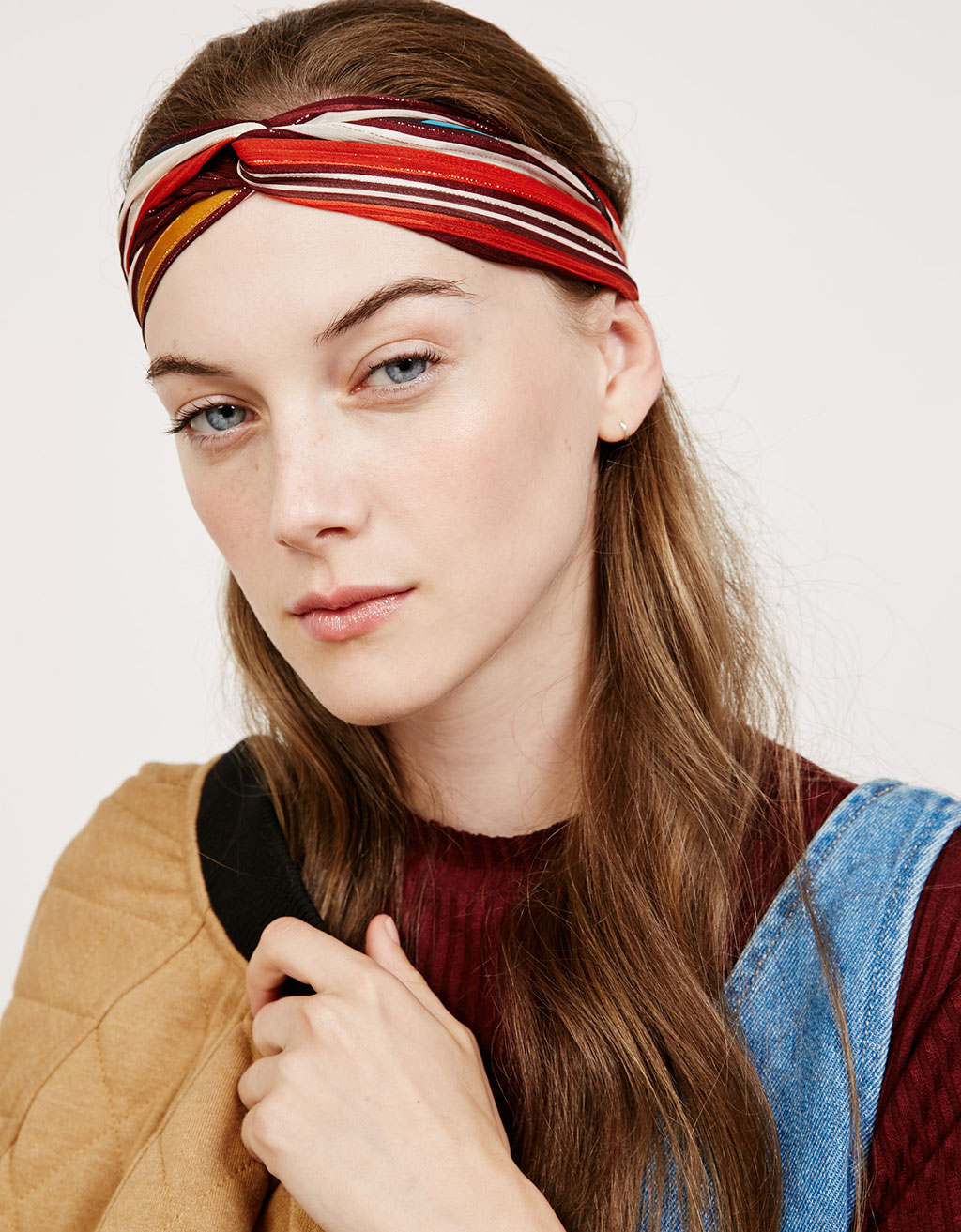Striped lurex turban