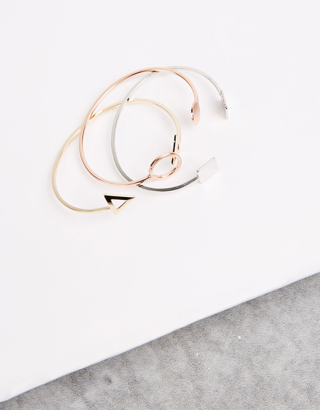 Geometric bracelets (set of 3)