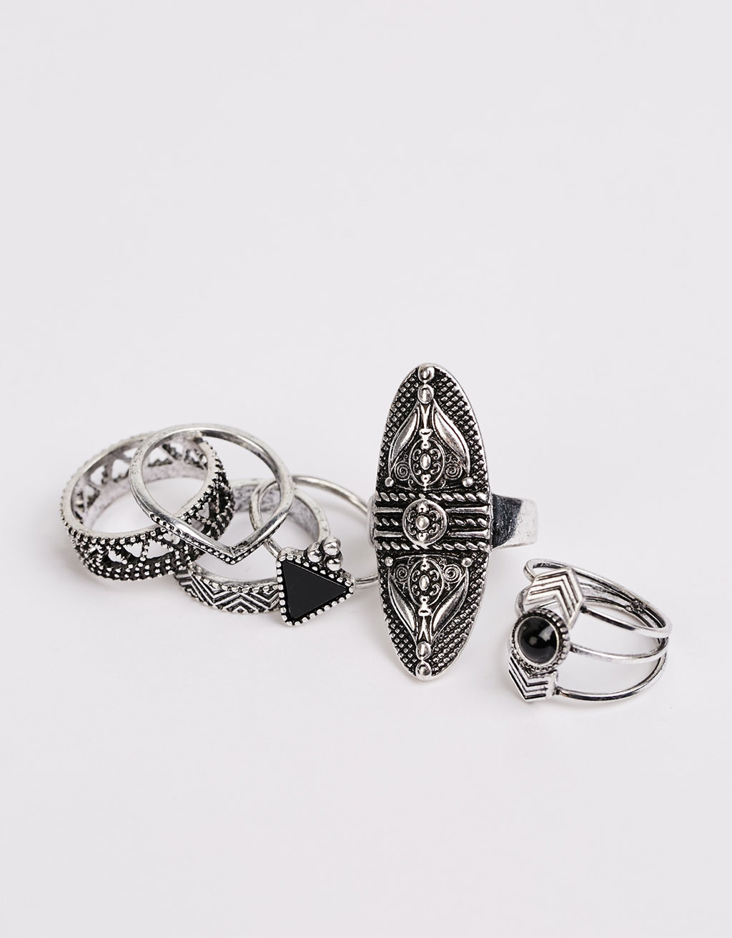 Bohemian rings (set of 6)