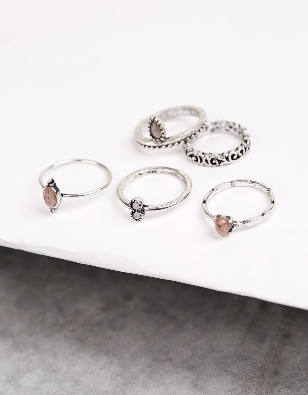Silver rings (set)