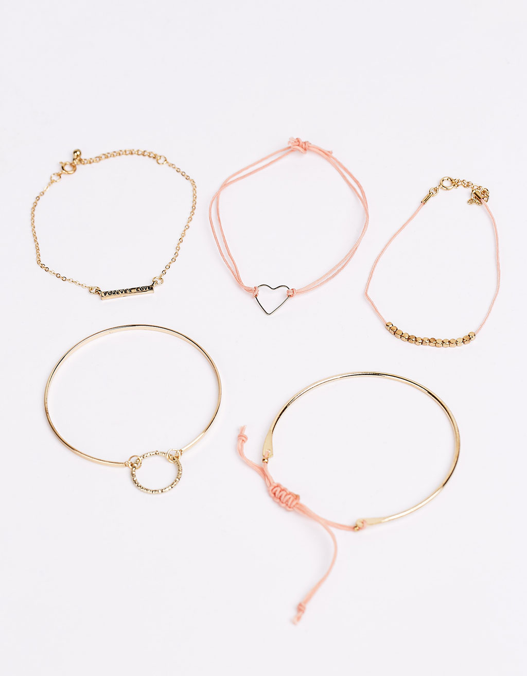 Set of 5 friendship bracelets