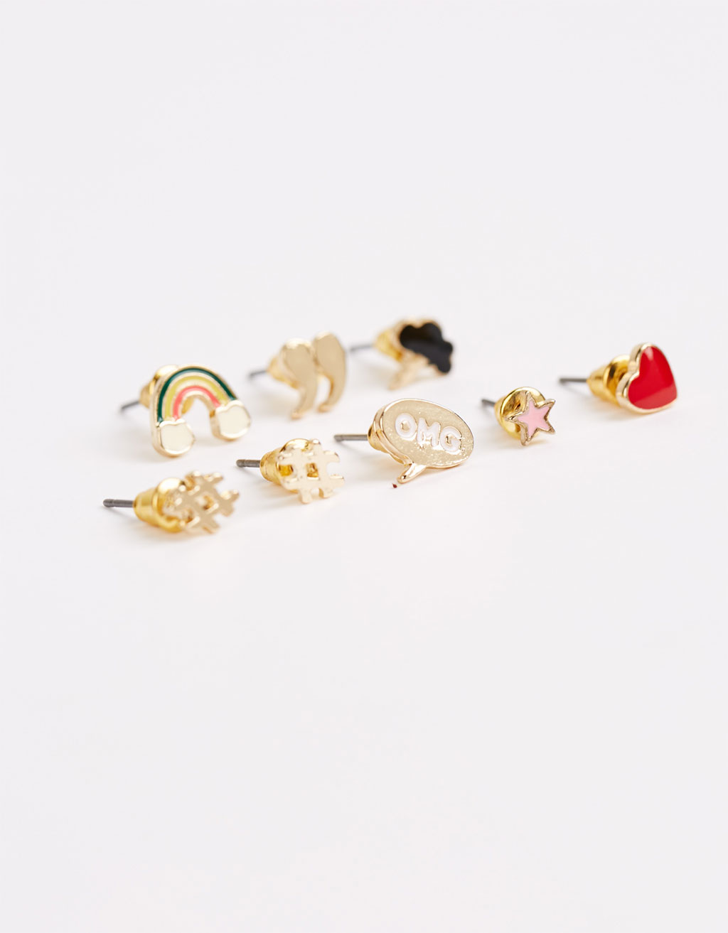 Pop earrings (set of 8)