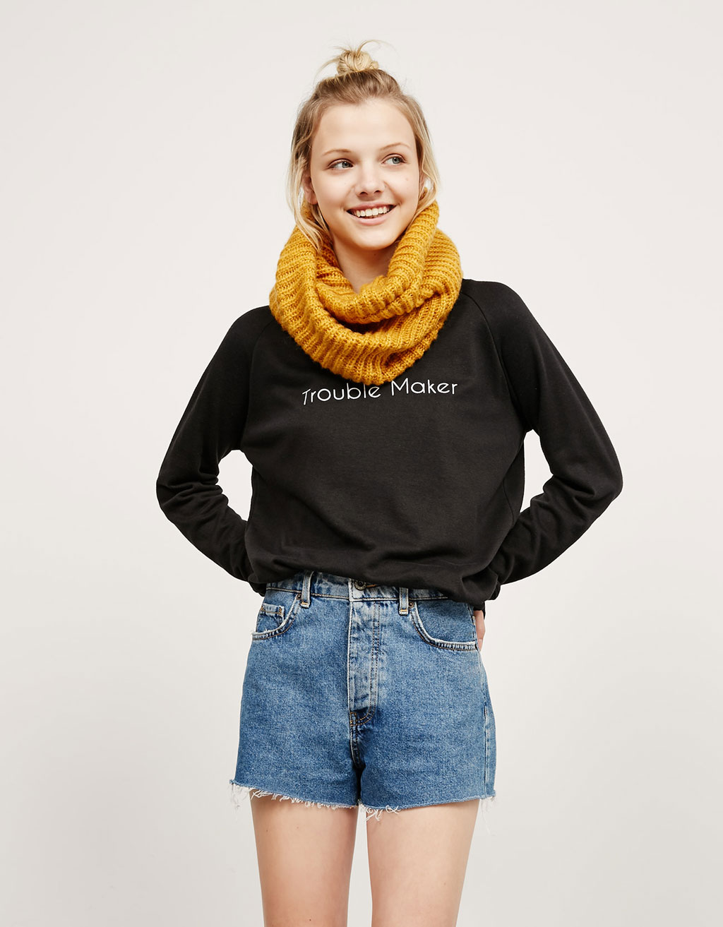 Snood côtelé