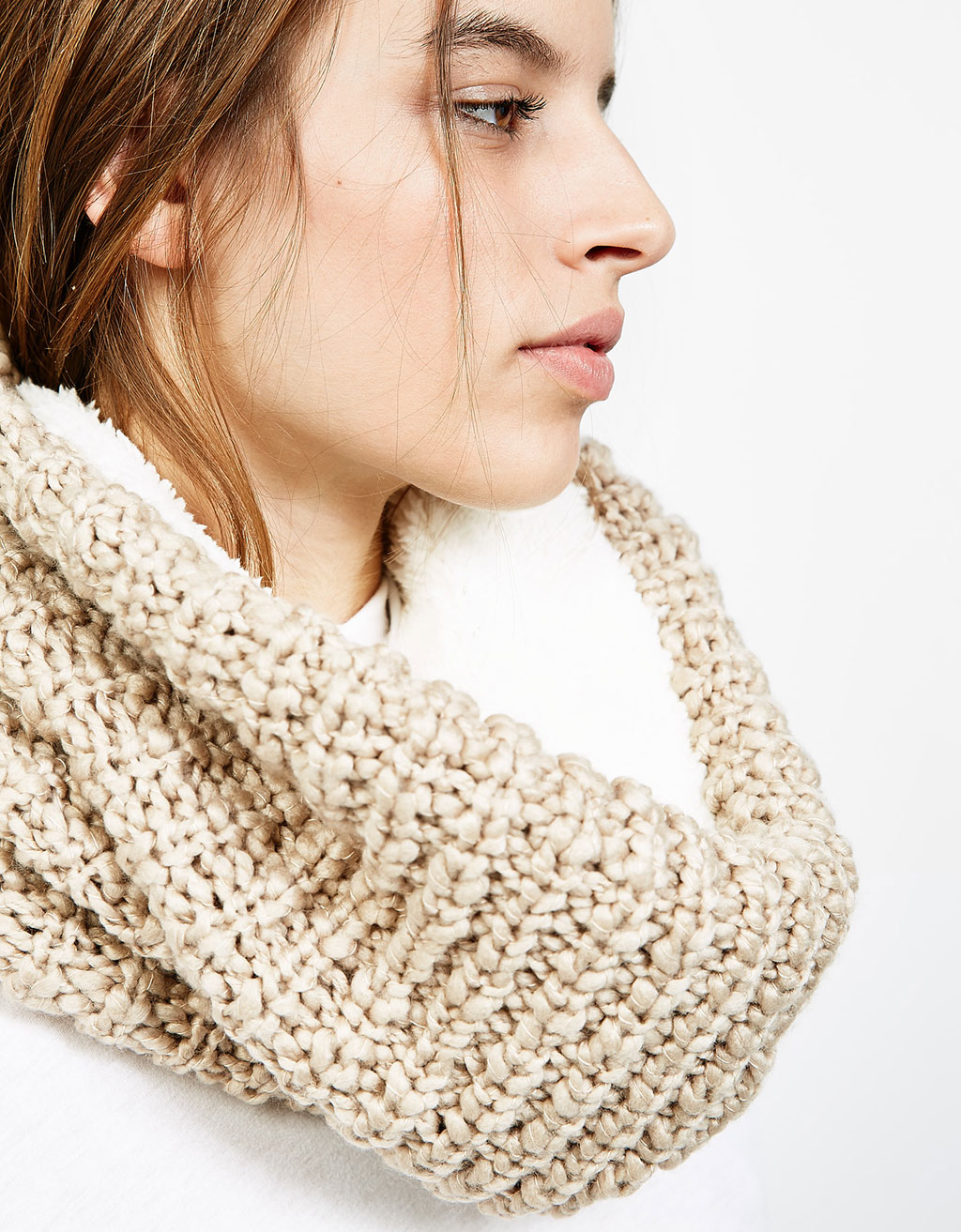 Cuello snood borreguito