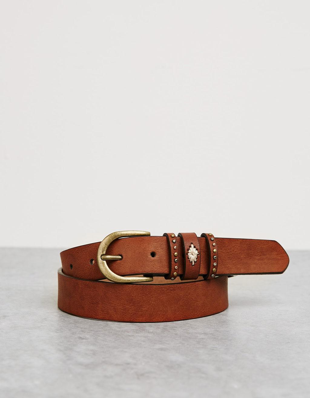 Cinturón detalles beads y stitching
