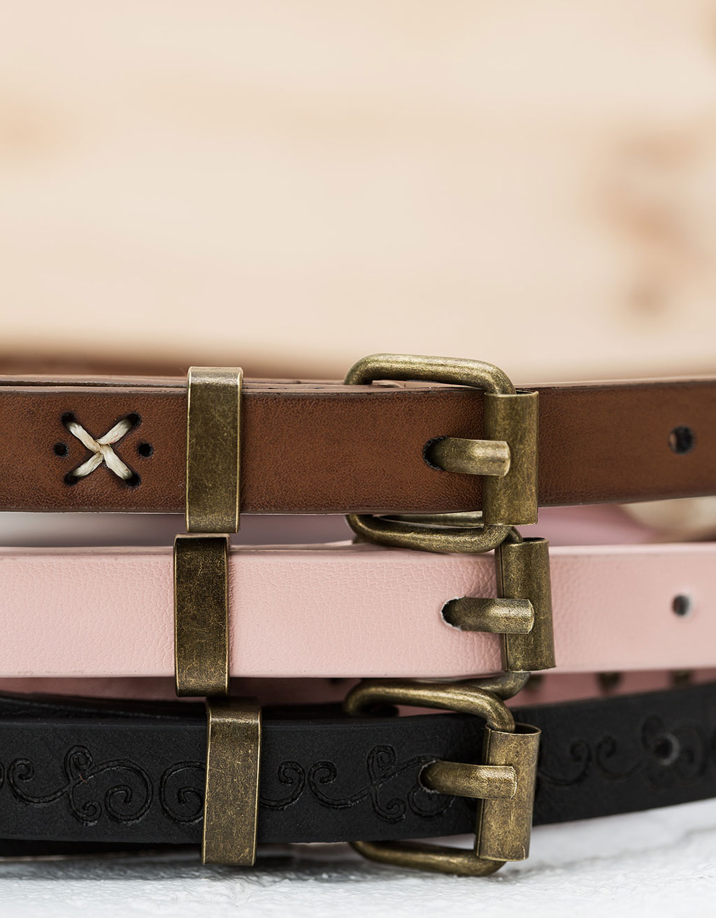 Studded belts (set of 3)