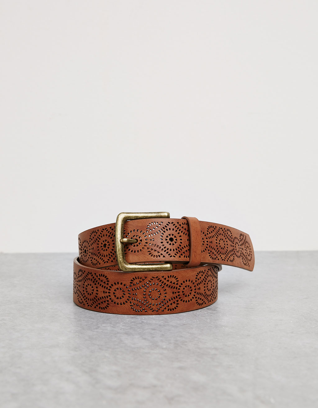 Wide embossed belt