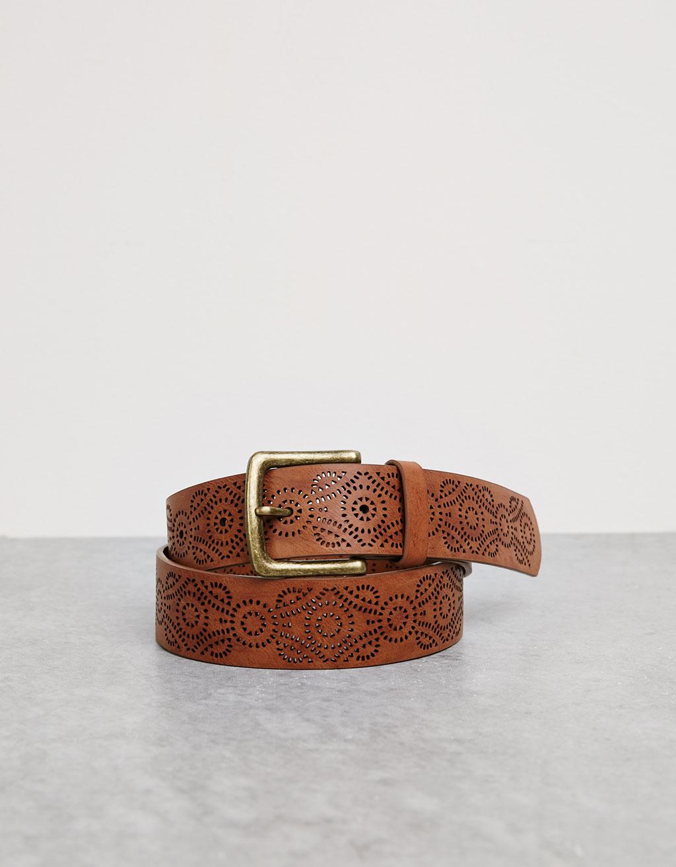 Cinturón troquelado ancho