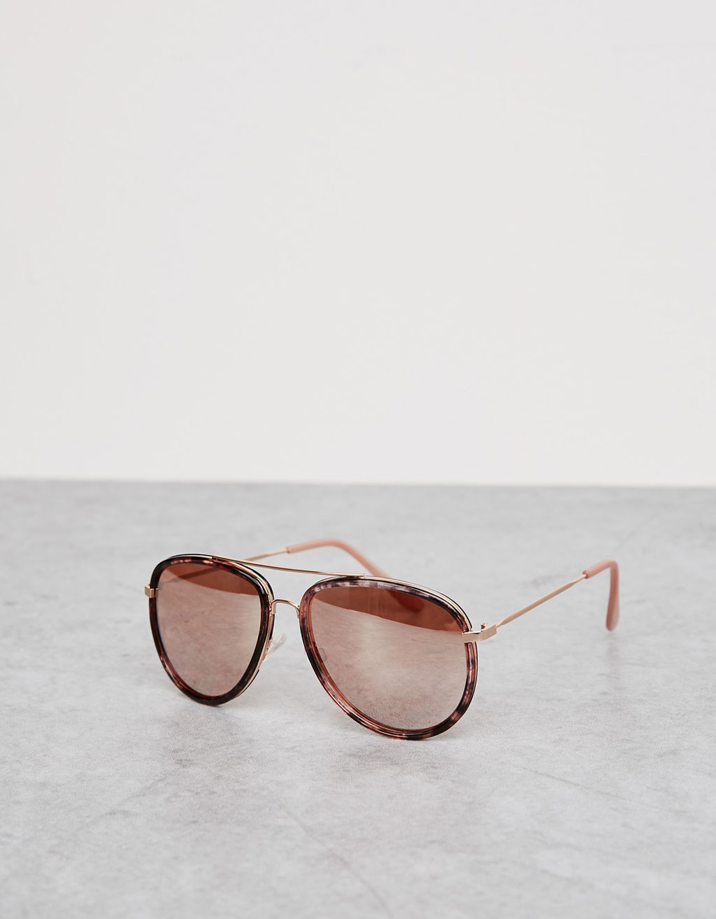 Aviator glasses with pink lenses
