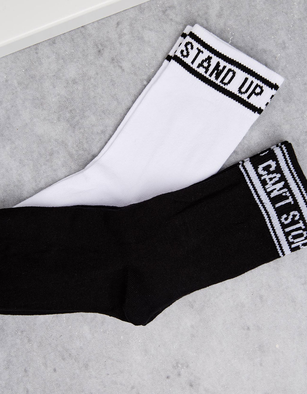 'Stand Up/Can't Stop' socks (set)