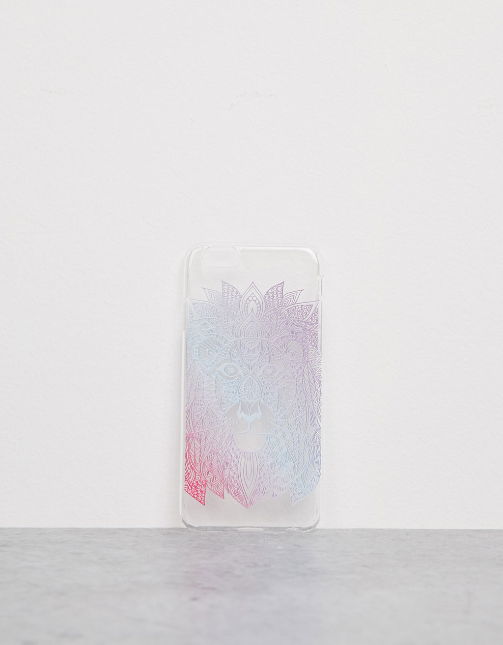 Carcasa transparente 'León étnico' relieve iPhone 6/6s