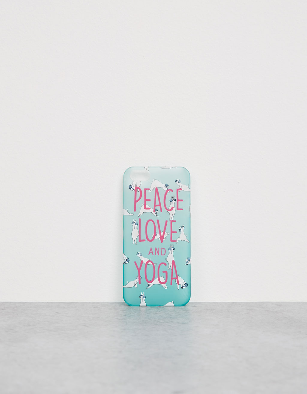 Carcasa transparente 'Yoga Dog' iPhone 5/5s