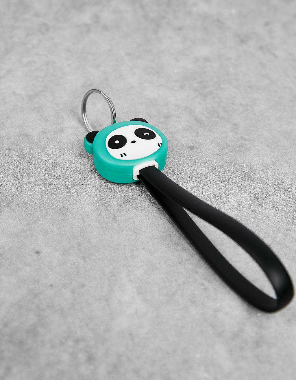 Panda keyring iPhone cable