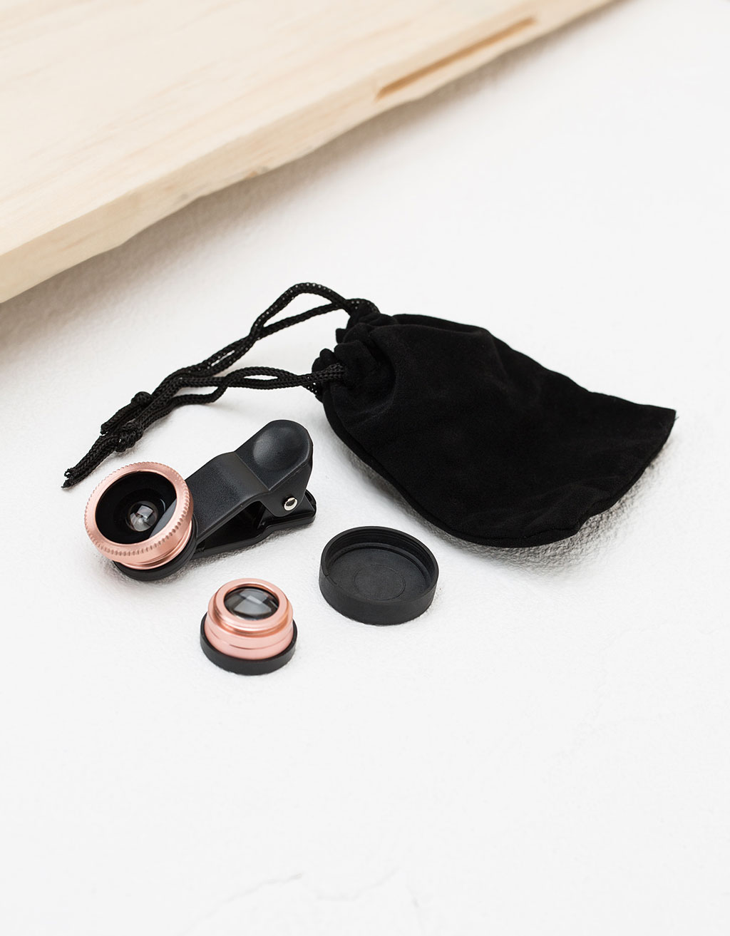 Rose Gold fish eye lens for smartphones
