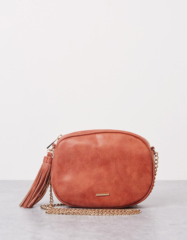 Oval pompom bag