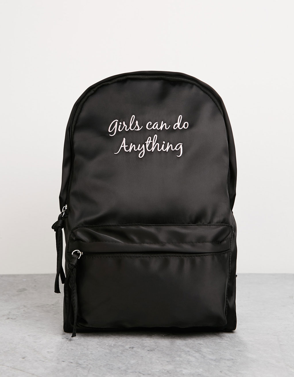 Nylon text backpack