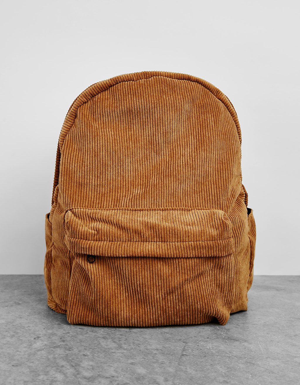 Large corduroy backpack