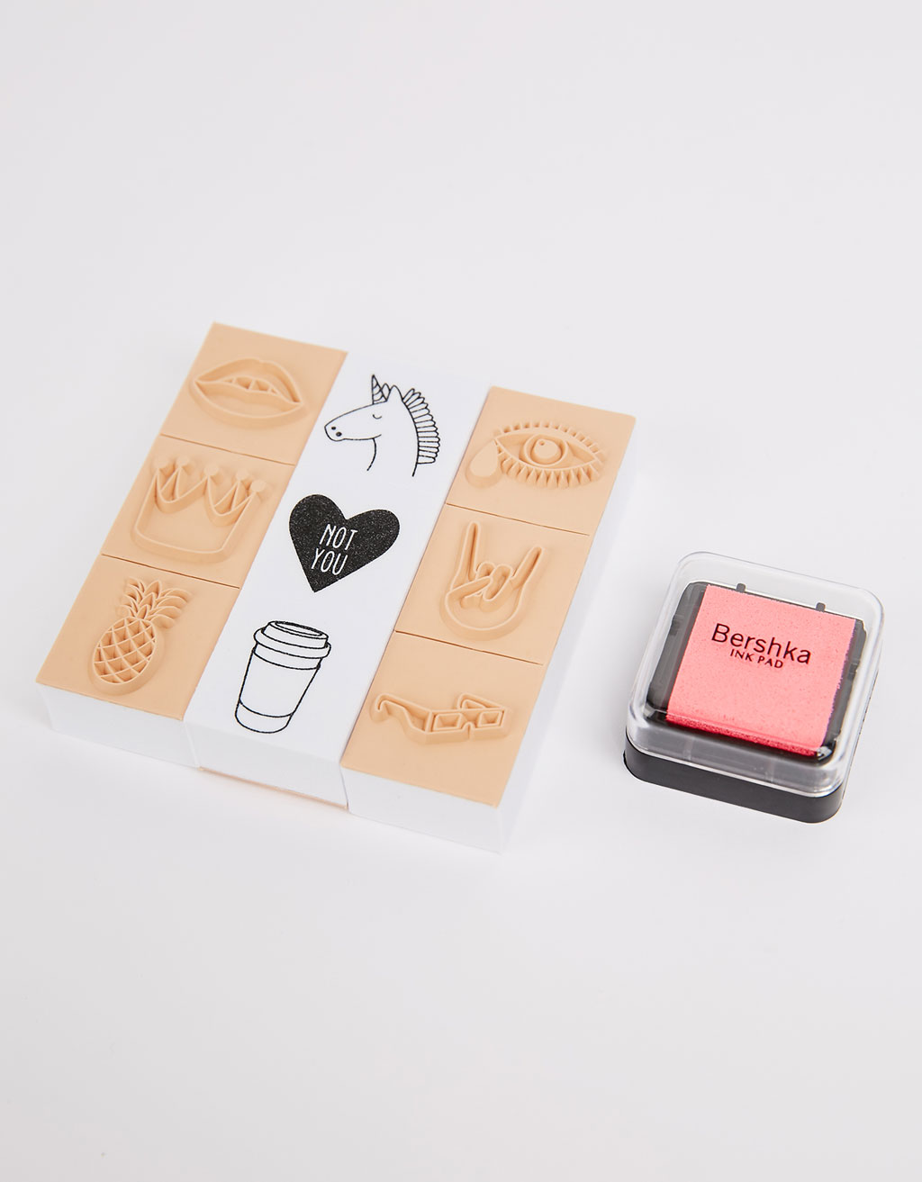 Ink and stamp set