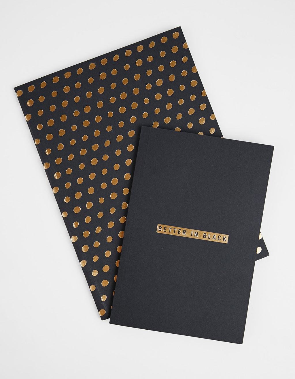 Set of 2 Black Paper notebook
