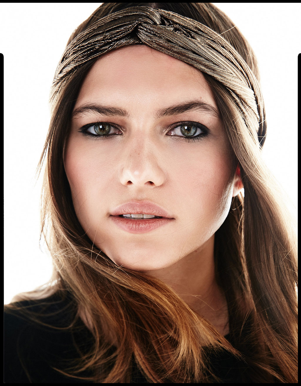 Kupferfarbener Metallic-Turban
