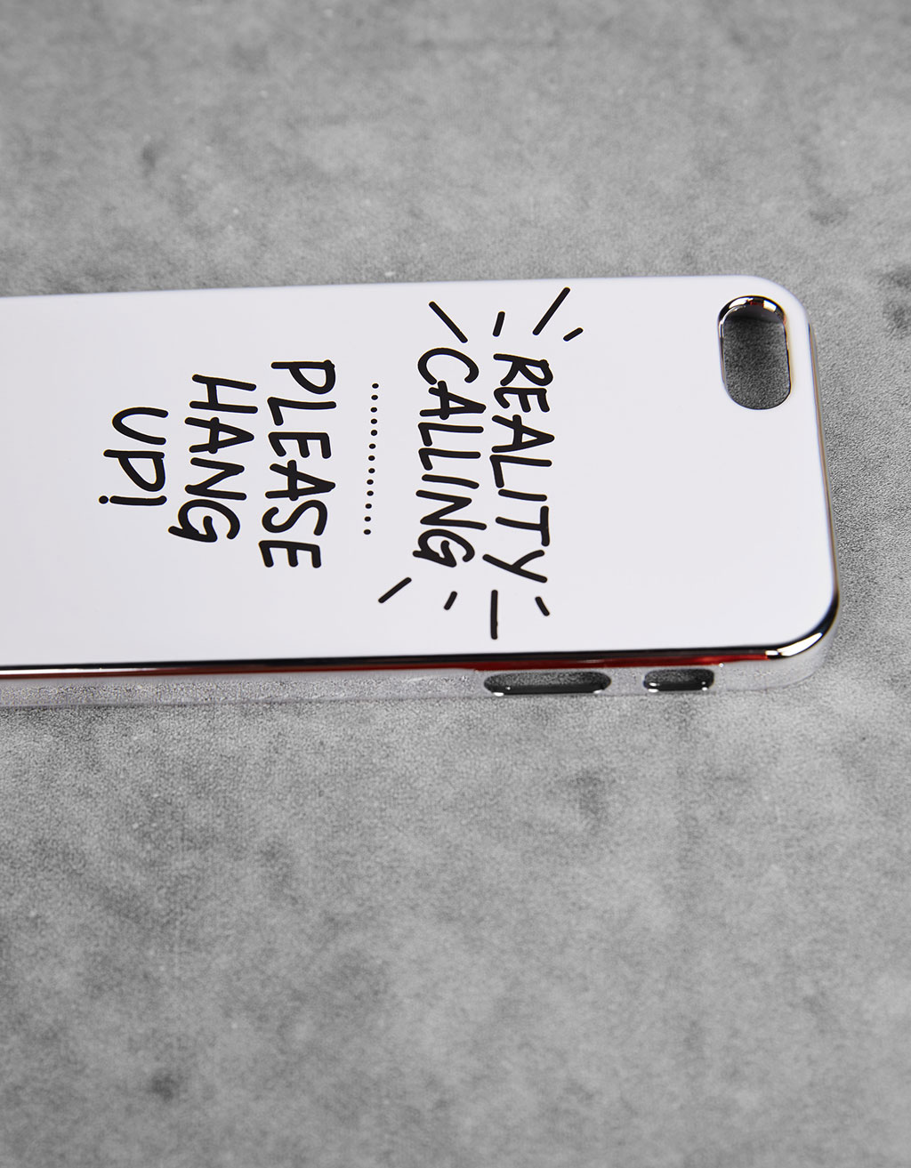 Carcasa metalizada texto iPhone 5/5s/5se
