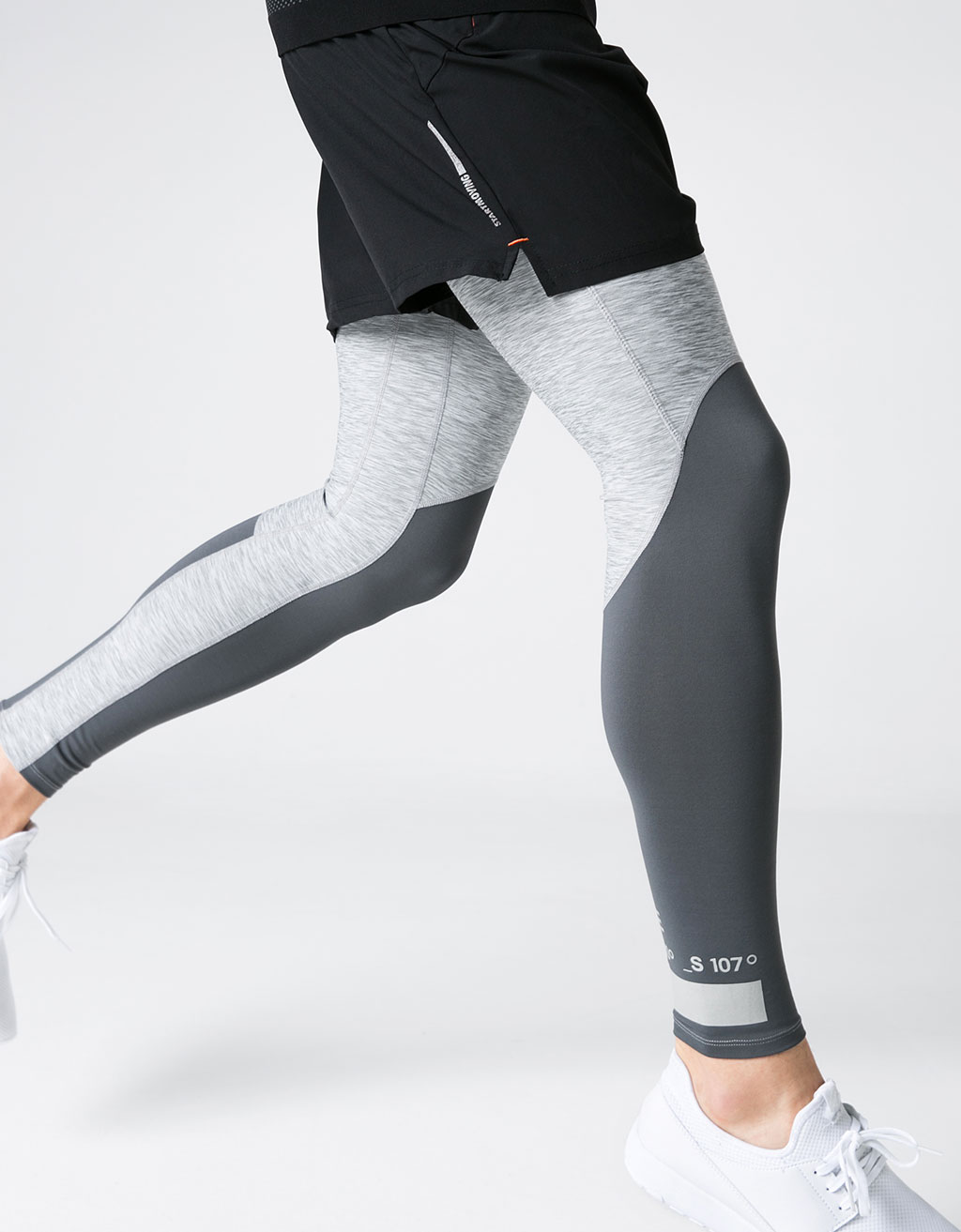 Technical sports leggings with detail