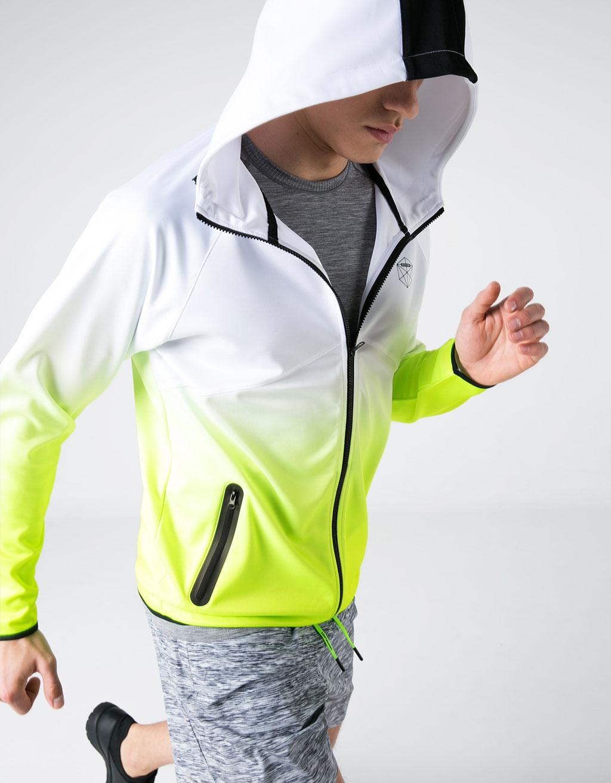 Sportinė techninio audinio pereinančių spalvų striukė 'Scuba'