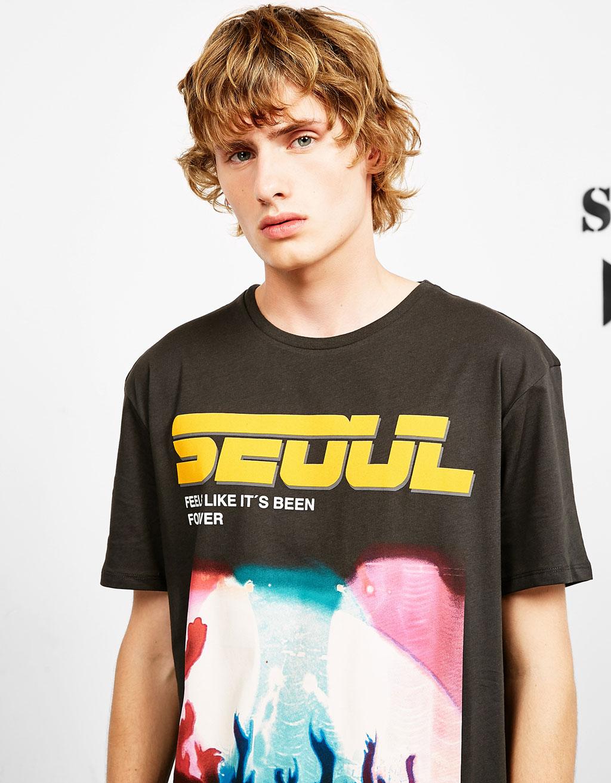 Camiseta Ny/Paris/Seoul