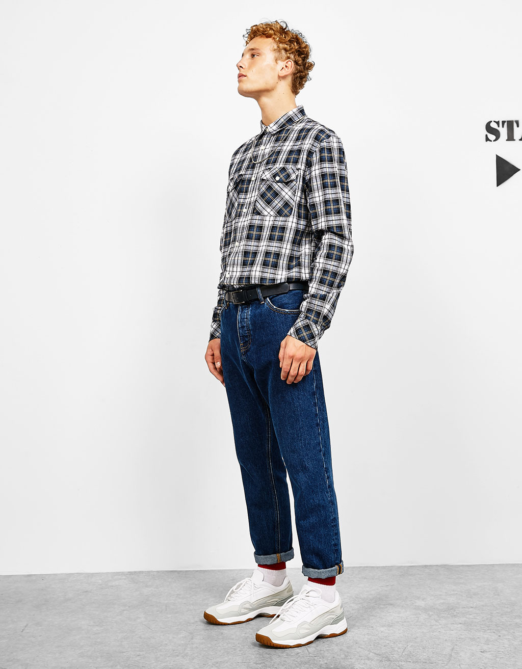 Straight fit vintage jeans