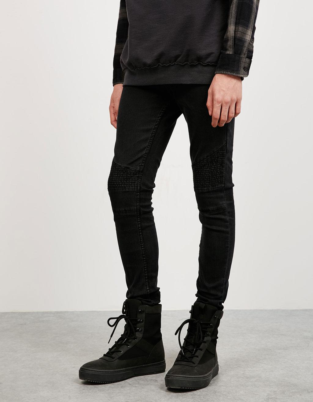Jeans skinny biker medium waist