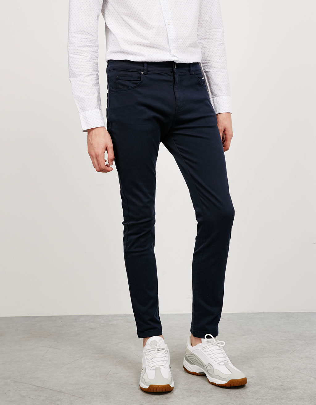 Five-pocket cotton trousers
