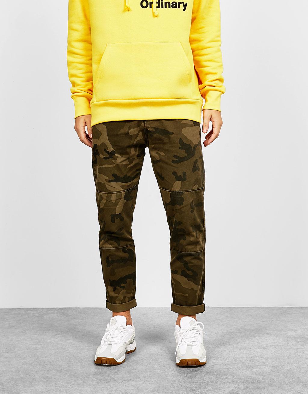 Pantalons cotó slim fit camuflatge