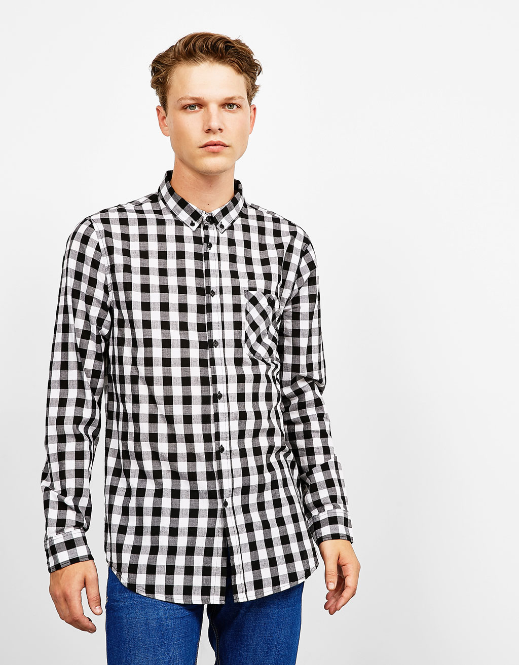Checked cotton top