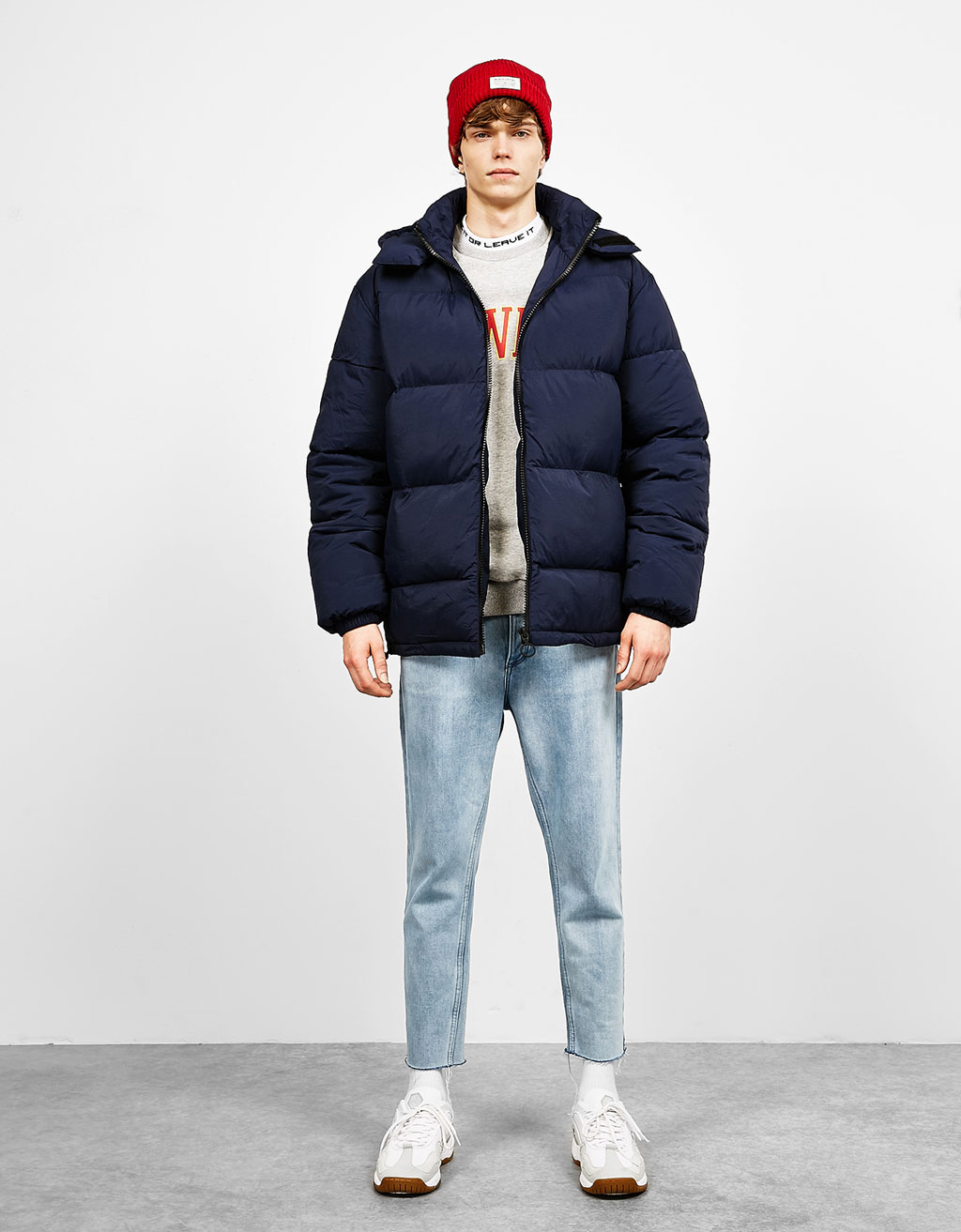 Puffer feather down jacket
