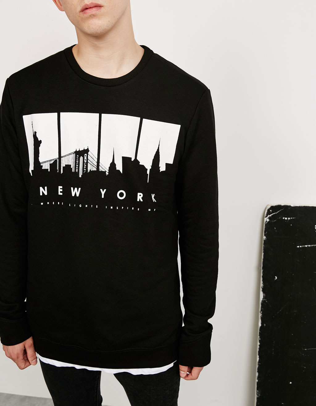 'N.Y./Go Away' sweatshirt