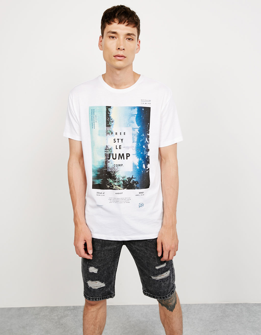 Shirt 'Stride/ Free Style Jump'