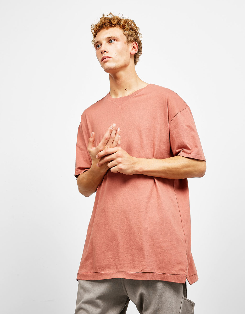 Longer T-shirt with neck detail