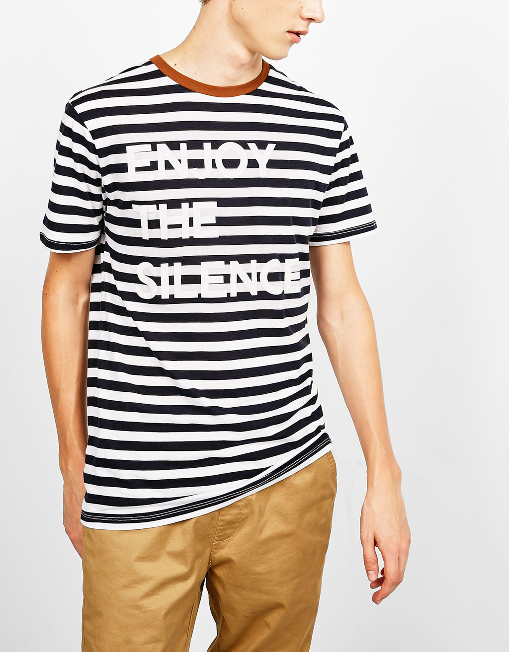 Striped pocket T-shirt