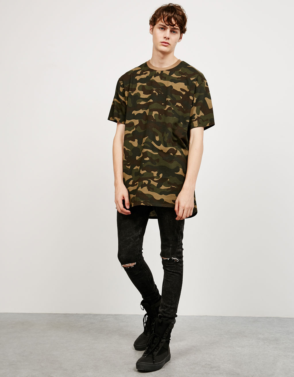 'French Terry' camouflage top