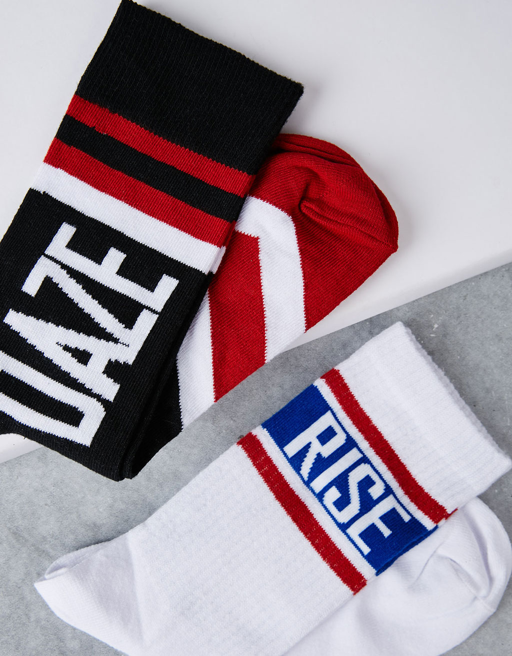 Set of retro basketball socks
