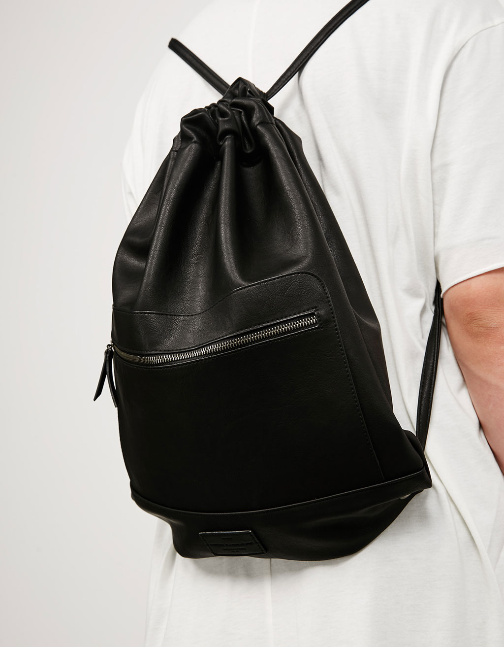 'Drawsting Metal Zipper' backpack