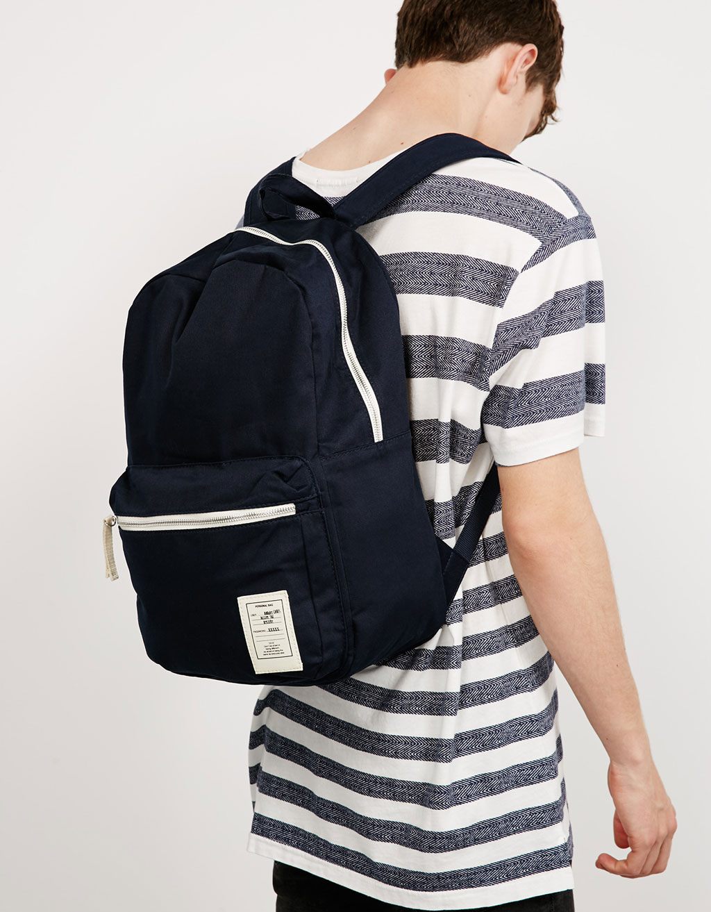 'Metallic Zippers' backpack