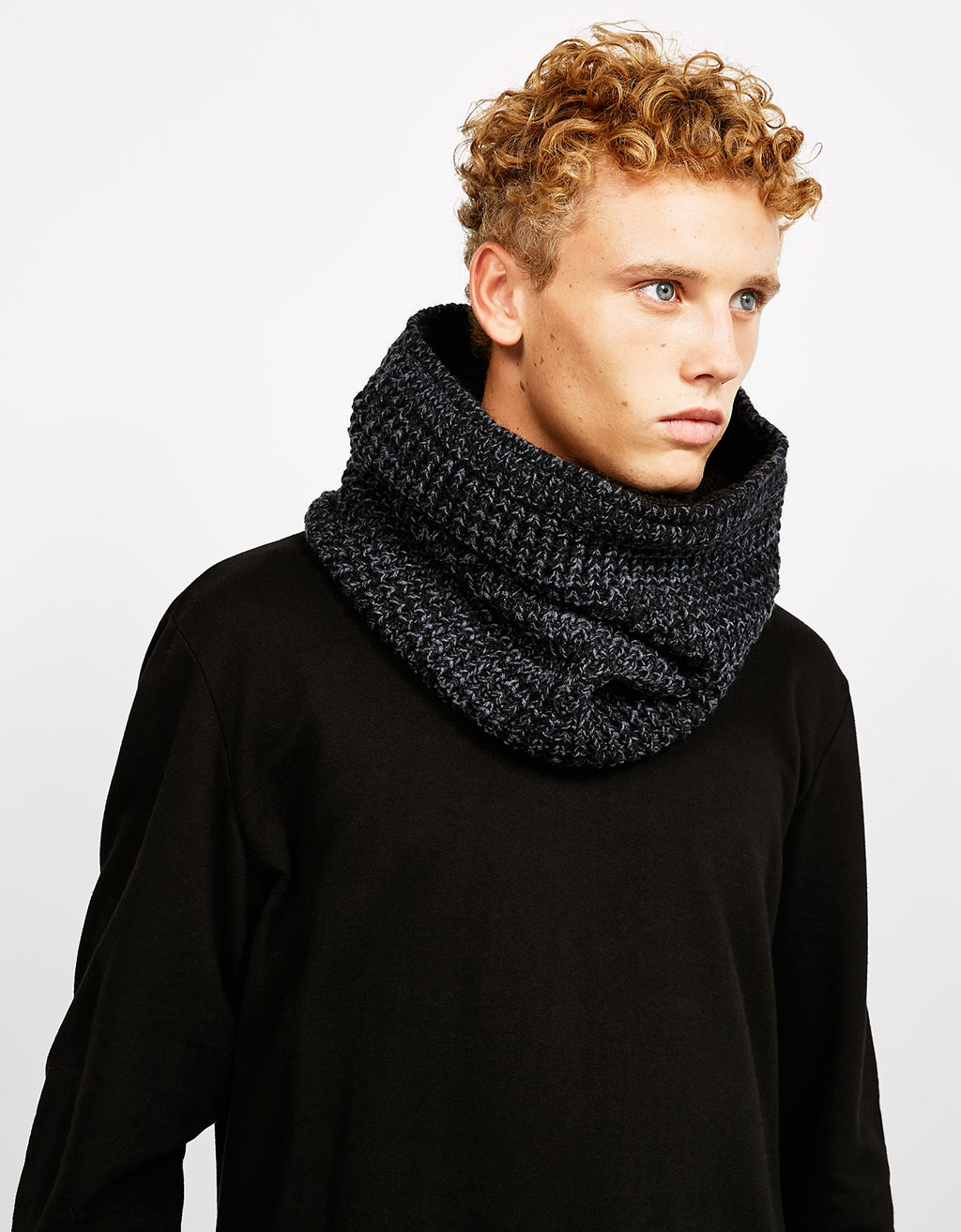 Cuello snood borreguillo