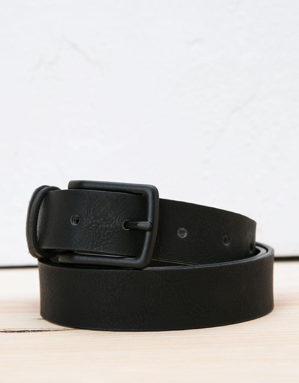 Perforated skinny belt