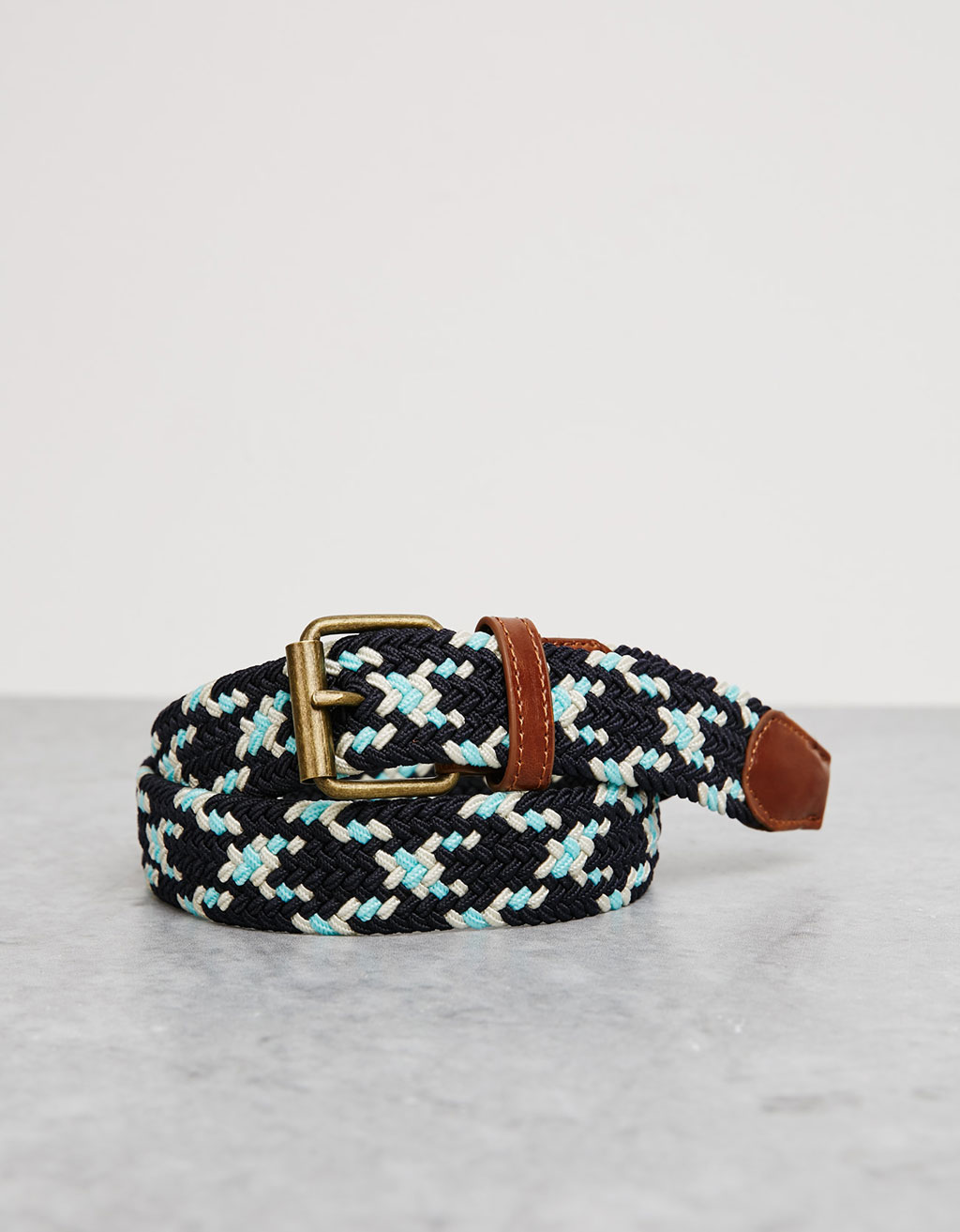 Multicolour braided belt