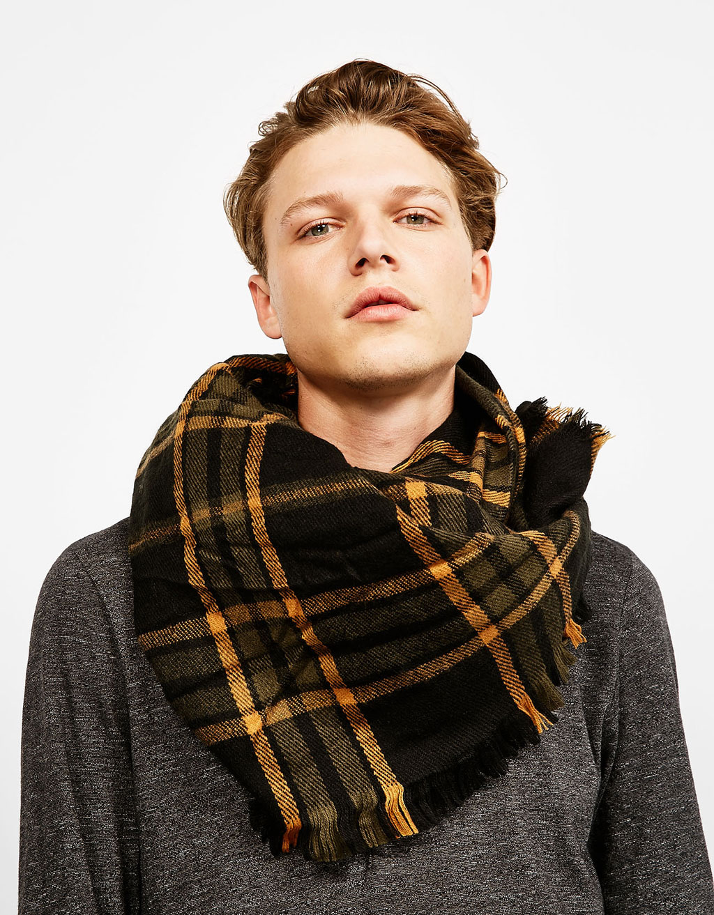 Casual check scarf